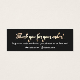 Thank you business cards templates zazzle customer appreciation thank you for your order colourmoves