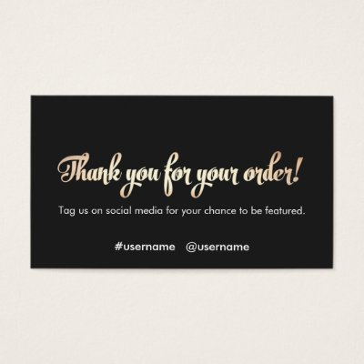 Customer appreciation thank you for your order mini business card customer appreciation thank you for your order mini business card zazzle reheart Gallery