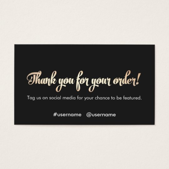 Customer appreciation thank you for your order business for Thank you cards for business customers