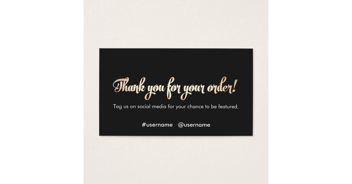 Customer Appreciation Thank You for Your Order Business Card ...