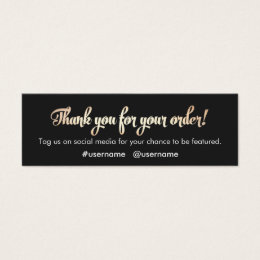 Thank You For Your Business Cards Templates Zazzle - Thank you for your business card template
