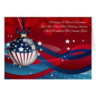 Customer Business Stylish Holiday Season Ornament Card