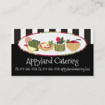 Customer color canapes appetizers chef catering business card