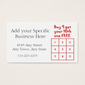 Customer Loyalty Punch Card - Generic Business use