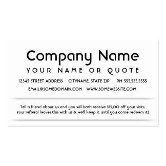 customer referral appreciation card Double-Sided standard business cards (Pack of 100)