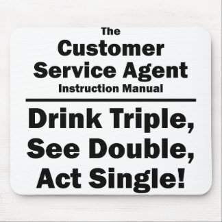 customer service agent mouse pad
