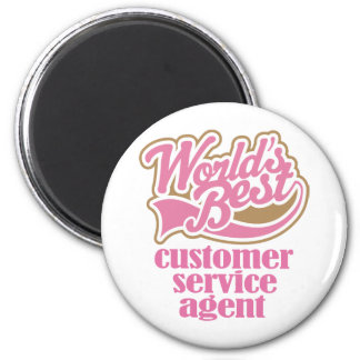 Customer Service Agent Pink Gift 2 Inch Round Magnet