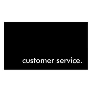 customer service. business card