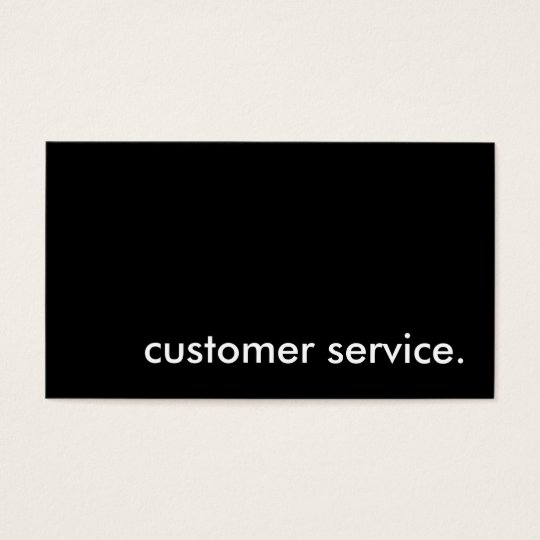 customer service. business card