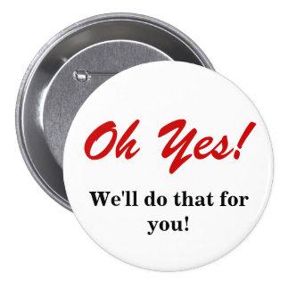 Customer Service Pinback Button