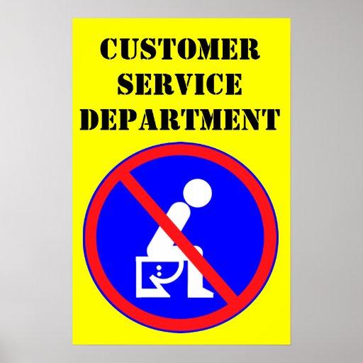 customer service department poster zazzle. Black Bedroom Furniture Sets. Home Design Ideas