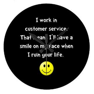 Customer Service Joke Large Clock