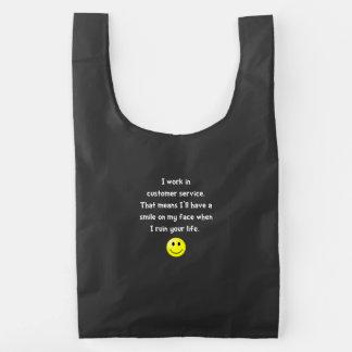 Customer Service Joke Reusable Bag