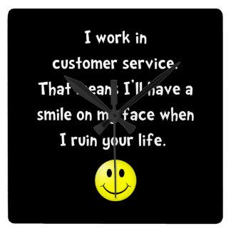 Customer Service Joke Square Wall Clock