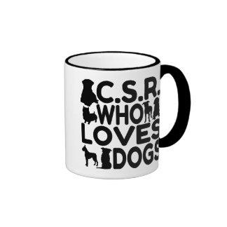 Customer Service Representative Who Loves Dogs Ringer Mug