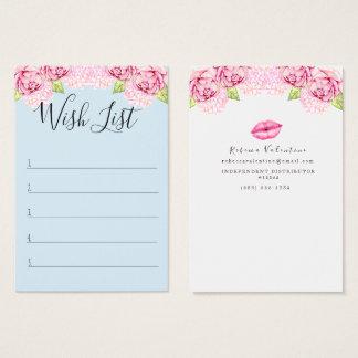 Customer Wish List - Lipsense Business Card