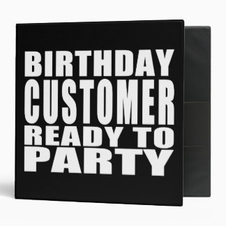 Customers : Birthday Customer Ready to Party Binders