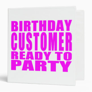 Customers : Birthday Customer Ready to Party Binder