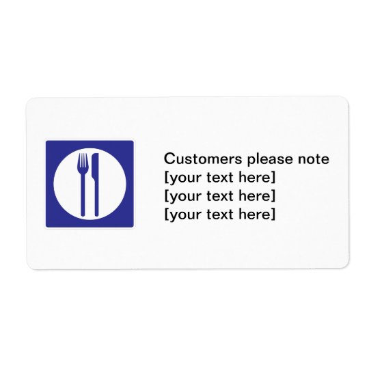Customers please note label