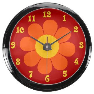 Customiazable Flower Power Aquarium Clocks