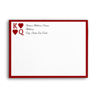 CustomInvites Playing Card King/Queen Envelopes