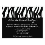 CustomInvites Zebra Bachelor Party Invitations