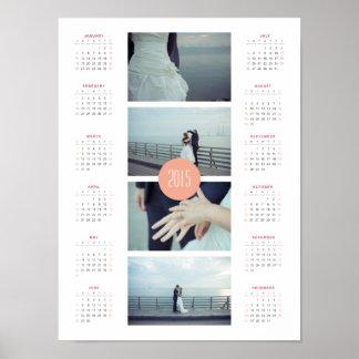 Customisable 2015 Photo Calendar - Pink & Orange Print
