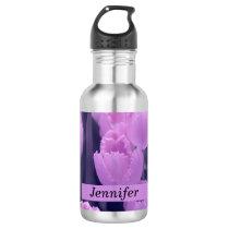 Customisable Beautiful Purple Tulip Back to School Water Bottle