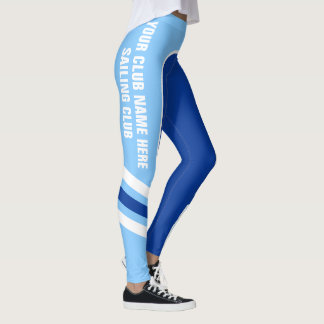 Customisable Blue Side Band Leggings