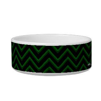 Customisable Chevron Emerald/Green Bowl