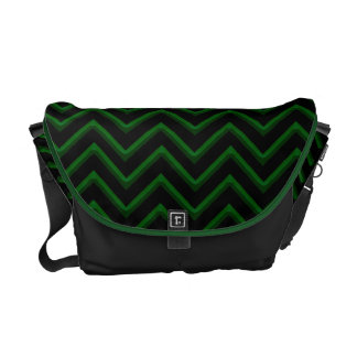 Customisable Chevron Emerald/Green Courier Bag