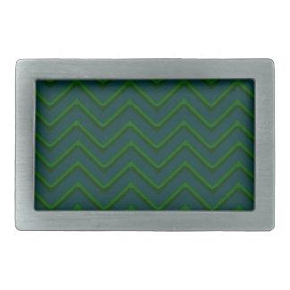 Customisable Chevron Emerald/Green Rectangular Belt Buckle