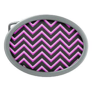 Customisable Chevron Hot Pink Belt Buckle