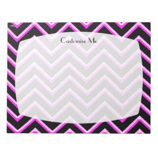 Customisable Chevron Hot Pink Notepad