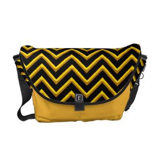Customisable Chevron Metallic/Golden Messenger Bags