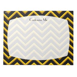 Customisable Chevron Metallic/Golden Notepad