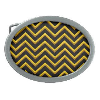 Customisable Chevron Metallic/Golden Oval Belt Buckle