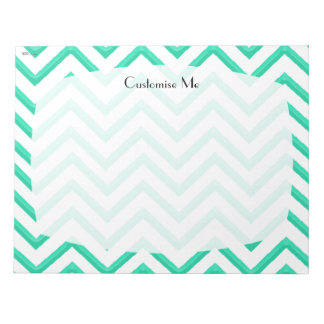 Customisable Chevron Mint Green Notepad