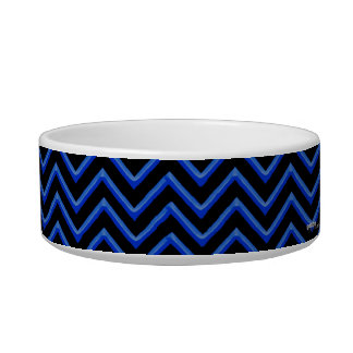 Customisable Chevron Neon/Blue Bowl