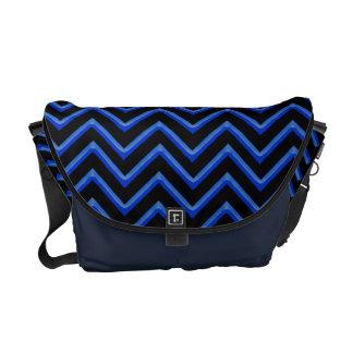 Customisable Chevron Neon/Blue Courier Bag