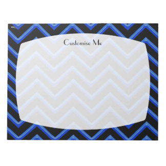Customisable Chevron Neon/Blue Note Pad