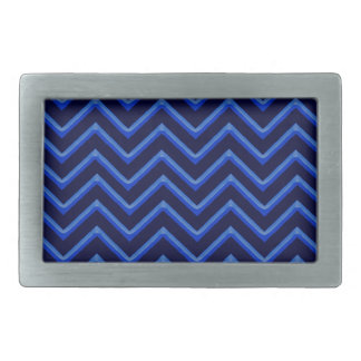 Customisable Chevron Neon/Blue Rectangular Belt Buckle