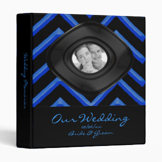 Customisable Chevron Neon/Blue (Wedding) Binder
