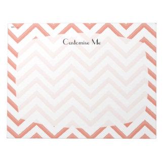 Customisable Chevron Peach Note Pad
