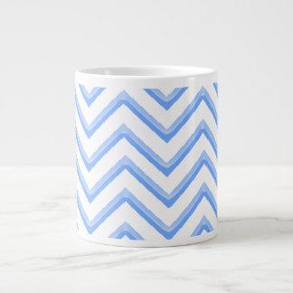 Customisable Chevron Powder Blue Large Coffee Mug