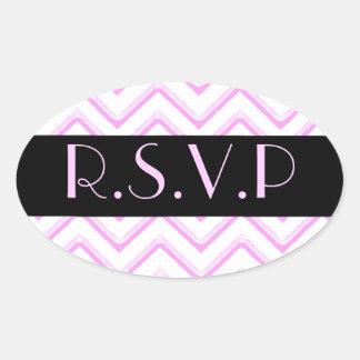 Customisable Chevron Soft Pink (Wedding) Stickers