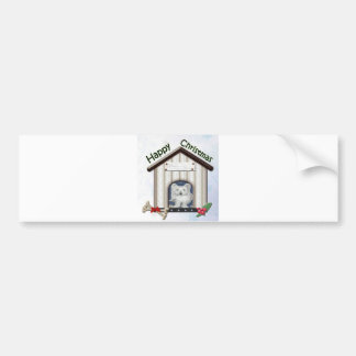 Customisable Christmas Westie Dog Gifts Bumper Stickers