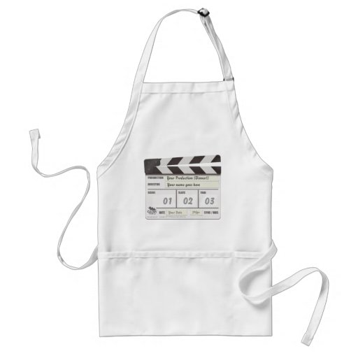 Customisable Clapperboard Chef's Apron.