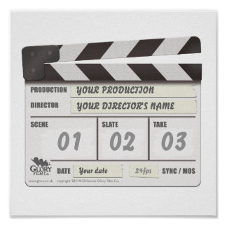 Customisable Clapperboard Print
