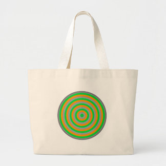 Customisable Colourful Concentric Circle Design Large Tote Bag